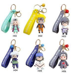 Hot 3D Anime Keychain Keyring Naruto Keychain Figure Kakashi Naruto Doll Car Key Chain Bag Charms Pendant For Cosplay Gift