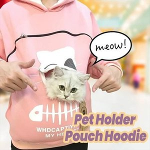 Drop Shipping Cat Lovers Hoodie Kangaroo Dog Pet Paw 2020 Fashion Pullovers Cuddle Pouch Sweatshirt Pocket Animal Ear Hooded