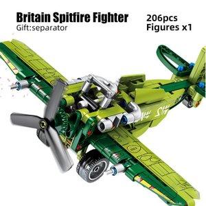 Sembo Military Technic Aircraft F4-u Ww2 Plane War Ii Spitfire Fighter For Assemble Building Blocks Bricks Kid Kit Toys Children sqcMaw