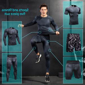 Compression Hommes Yuerlian Courant Ensemble de vêtements Joggers Formiding Tracksuit pour hommes Gym entraînement sport costumes5