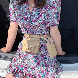 2020 Ins Women Chest Bag Girls Waist Bag Versatile Fashion One Shoulder Phone Bags Crossbody Lady Belt Waist