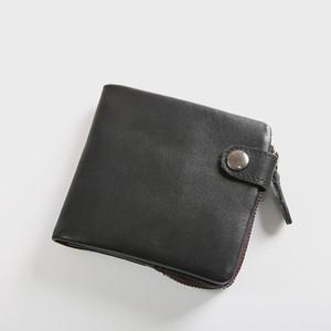 Portefeuille en cuir 100% véritable pour hommes Mâle Luxe Vintage Vintage Cowhide Sac à bifolder pour homme avec porte-monnaie