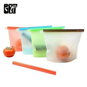 Fresh Marinades Bag Reusable Vacuum Bags Freezer Silicone Slide  Sandwiches  Tool1 Lock Sealed Storage Kitchen Bag Thsfj