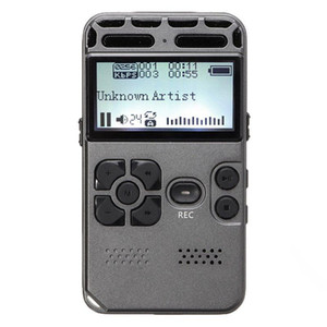 64G Rechargeable LCD Digital o Sound Voice Recorder dictaphone MP3 Player