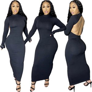 New Hip Wrapped Bodycon Womens Clothing Hot Sell Casual Dress For The Ladies Backless Women Dresses Lady Elegant