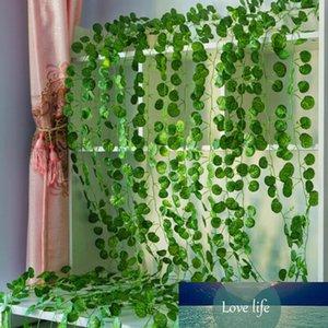 2.2M Artificial Wisteria Rose Silk Flowers Vine Garland Leaves Vine Fake Vines Rattan Artificial Plants Ivy Wreath Wall Decor