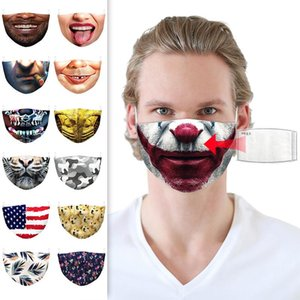 Designer face masks Popular 3D printed respirators for men and women can be pled with PM2.5 melting spray filters face mask HWB2505