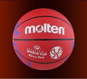 Molten FIBA China 2019 Baloncesto Copa del Mundo Tamaño del baloncesto 7 Red Dragon Pattern Patrón de goma RESISTENCIA DE RESIDUCCIÓN DE RESPIENCIA BALIÓN DE BALONCESO B7C1600