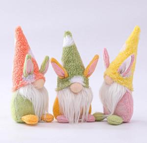 Pasqua Bunny Gnome Handmade Swedish Tomte Coniglio Peluche Giocattoli Bambola Ornamenti Casa vacanze Decorazione del partito Bambini regalo di Pasqua FY7600