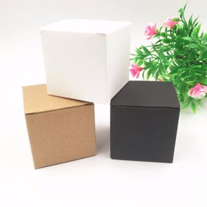 50pcs per lot Kraft white black Heart Shaped Window cupcake boxes Wedding Chocolate Packing Party Single candy cookies Boxes 201029