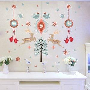 Christams Wall Sticker Merry Home Décor Chambre Salon Boutique verre Fenêtre Porte PVC amovible Décorations de Noël pour la maison