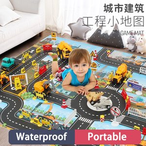 83*58CM Road Map Children Playing Floor Game Baby Crawling Mat Pad Waterproof Kids City Toy Cars
