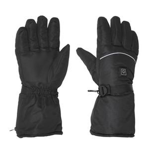 스키 장갑 전기 온도 조정 배터리로 가열 된 스키 가득 차있는 손가락 장갑 등반 사이클링
