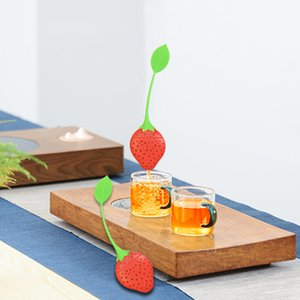 Lovely Silicone Tea Infuser Strawberry Shape Tea Filler Bag Loose Leaf Diffuser Tea Strainer Bar Tools Kitchen Accessories