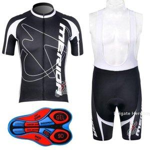 Мода Merida задействуя Джерси Set Мода Merida цикла Одежда лето с коротким рукавом Cycle Джерси Pro Team Велоспорт Bib Shorts Ciclismo Почта