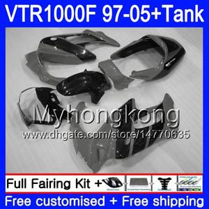 Fairing per Honda SuperHawk Vtr1000 f 1997 1998 1999 2000 Grigio indietro 2001 56hm.204 VTR 1000 F 1000F Vtr1000F 97 98 99 00 01 05 Body + Serbatoio