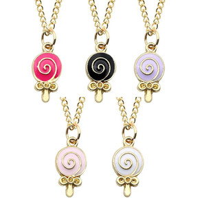 Donut Lollipop Collier Set De Bijoux Colliers en spirale colorée Collier de dessin animé