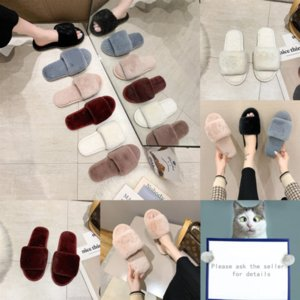 apIZg Withluxury Mules Princetown Luxury Designer Men and Plush women shoes Classic slippers designer MetalLovers slippers