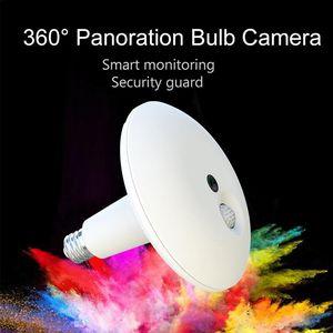 360 Degree Panoramic WIFI Bulb Light IP Camera Night Vision Smart Home Security Guard HD3.0 MP CCTV Camera Alarm Two Way Audio