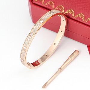 Klassische Mode Edelstahl Armband Liebhaber Armband CZ Stein Sternenholz Flash Armband Liebhaber Schmuck mit Box