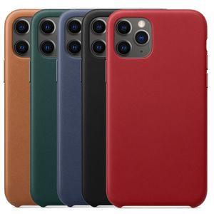 Funda de Cuero real para el iphone 11 Pro Max Case Oficial para el iphone Xs Max Xr 8 Plus 7 con Box