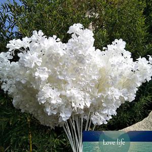 95cm Silk Hydrangea White Branch Drifting Snow Gypsophila Artificial Flowers Cherry Blossoms Wedding Arch Decorate Fake flower