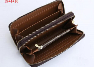 Handy Double zipper Card Pocket Wallet Pouch Zippy Coin Holder With Classic Men Coin Fashion Holders Credit Slim Bank Women Purse M42091