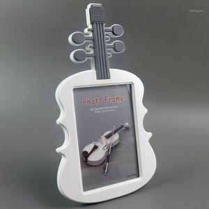 7-дюймовый милый картон скрипка формы детские фото рамка прекрасный дети фото держатель фото дисплей рамка для домашнего декора подарок
