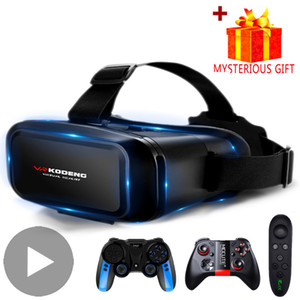 3D VR Headset Virtual Reality Smart Glasses Helmet for Smartphones Mobile Cell Phone with Controllers Lenses Goggles Binoculars LJ200917