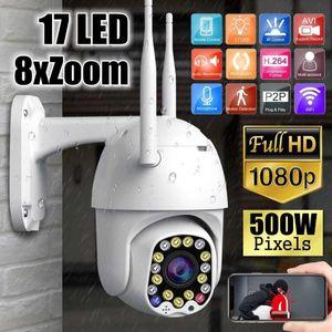 PTZ Speed Dome WIFI IP Camera 1080P 5MP Outdoor 8X Zoom Wireless Camera 8pcs Led IR 30m Two Way Audio CCTV Surveillance Camhi