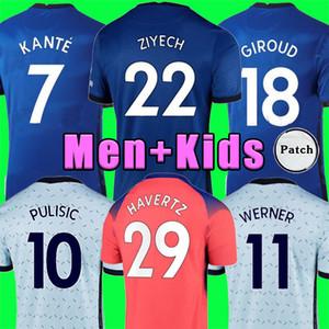 Chelsea CFC KANTE ABRAHAM MOUNT LAMPARD ODOI JORGINHO PULISIC camiseta de fútbol 2020 2021 GIROUD ZIYECH HAVERTZ chandal de fútbol 20 21 hombres + kit para niños
