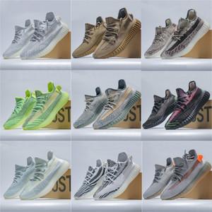 2020 New Fashion Mens Womens Running Shoes Kanye West V2 Wave Runner Black Green Yecheil Zebra Israfil Linen Earth White Trainers Sneakers
