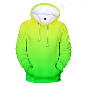 Neon green hoody men women Harajuku Clothes Store For Customization 3D Hoodie Sweatshirt Street colorful print Hip Hop trend 4XL X1022