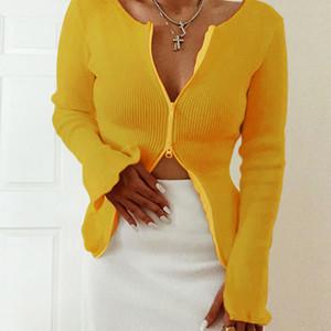 Женщины с длинным рукавом Sexy V шеи футболки женские молнии Кофты Осень Туники Женщины Кардиган моды пальто свитер 050928