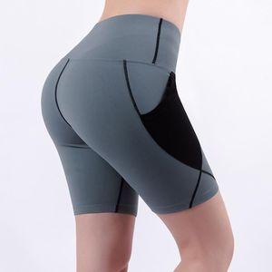 PSVTeide Hohe Taille Yoga Shorts mit Taschen für Frauen Workout Shorts Kompression Damen Laufen Push Up Hüftgymnastik Fitness1