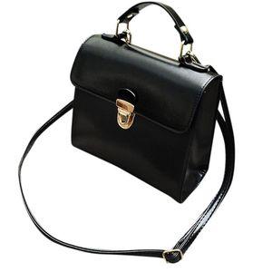 Women's Handle Oily Fashion Leather Bag Tote Retro Glossy Bag Portable PU Crossbody Bolsa Handbags Briefcase Top Feminina Thqmv