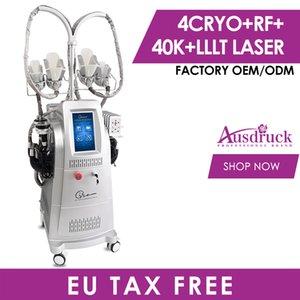 Best Selling 4 hanldes Cryo Slimming Fat Freezing Machine Body Cryotherapy Fat Freeze Device Freeze Fat Cavatation Slim Beauty Equipment