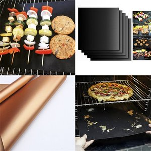 Camping Barbecue Mats Glass Fibre Non Stick Portable Baking Pad Kitchen Supplies Household Pads High Temperature Resistance 2yt F2