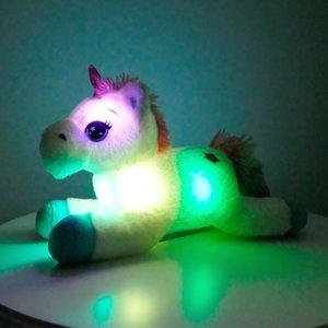 40cm coloré LED licorne en peluche Jouets Glowing Animaux en peluche Cheval Jouet mignon poney Light Up Doll Filles Enfants de Noël Cadeaux d'anniversaire 1011