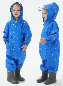 80-140cm children raincoat baby raincoat boy primary school student Siem grain raincoat
