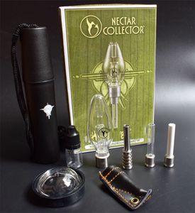 Nectar Kits Collector avec pointe à quartz en céramique et titane Mini verre Oil Pipe Rig Mini verre Bong
