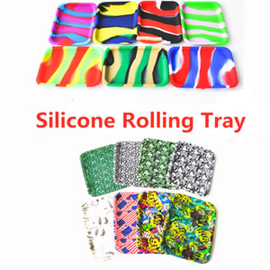 NEW Silicone Rolling 20.5cm*15cm*1.9cm Tobacco Roller Rolling Trays For Make Rolling Papers Smoke Herb Grinder Cigarette Accessories