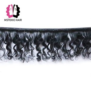 Mstoxic Peruvian Loose Wave Bundles With Frontal 13x4 Lace Frontal Closure With Bundles Remy Human Hair Bundles With Closure