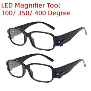 Portable Magnifying Eyewear LED Reading Glasses Gift Magnifier 100  350  400 Degree Vision Glasses for For The Aged