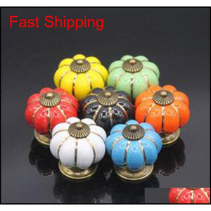 4*4*4 Cm Kitchen Cabinets Knobs Bedroom Cupboard Drawers 7 Colors Ceramic Door Pull Ha qylmdq toys2010
