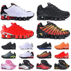 Nike Shox TL Superiore all'ingrosso Shox TL grande formato 12 donne pattini correnti del mens Scarpe Bianco Nero Rosso Shox Alba arancione Mens Sneakers Trainers EUR46
