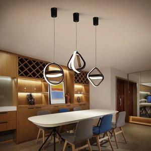 Moderna lâmpada de teto de pingente de LED para sala de jantar sala de cabeceira fundo casa decoração círculo quadrado pendurado luminária
