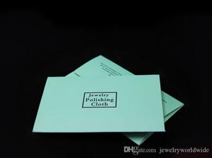 925 plata esterlina paño de pulido de manera de las mujeres joyería con 4x7cm paquete de papel de limpieza polaco Limpiadores para el collar pulsera