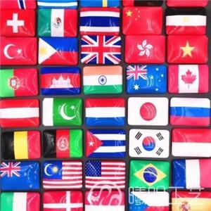 Cristallo Fridge Magnet bandiera della Cina Olanda Stati Uniti Regno Unito Francia Singapore Spagna Russia Italia Corea Thailandia Canada turistico souvenir Mlyy #