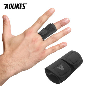 Dedo AOLIKES 1PCS Deportes Voleibol Baloncesto apoyo protector de dedo Guardia vendaje alivio del dolor Deporte Equipo de Protección